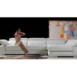 Sofá piel chaisslongue modelo DINAMIC