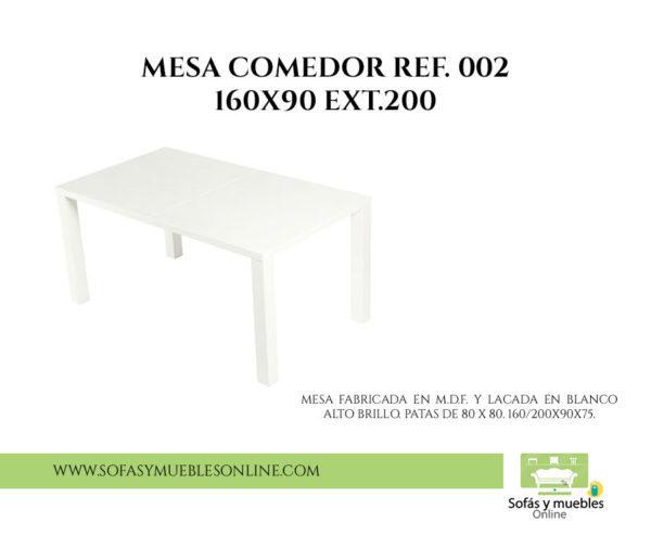 MESA COMEDOR REF 002 160X90