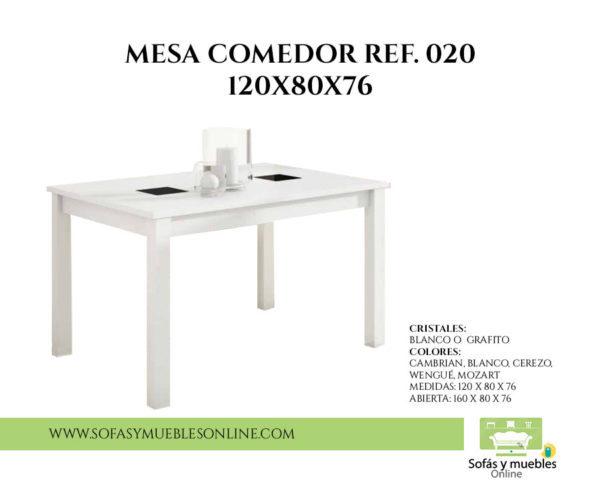 MESA COMEDOR REF. 020 120X80X76