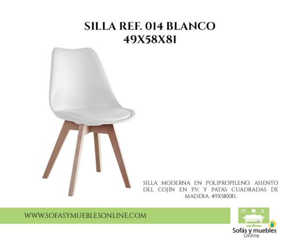SILLA REF. 014 BLANCO 49X58X81